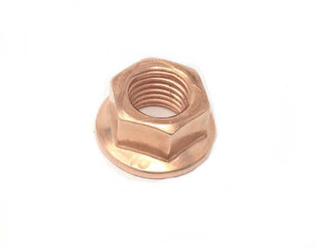 DIFtech Exhaust Nut M10 x 1.25 Copper Flange (Hex Size 14mm) 10459 - Diftech