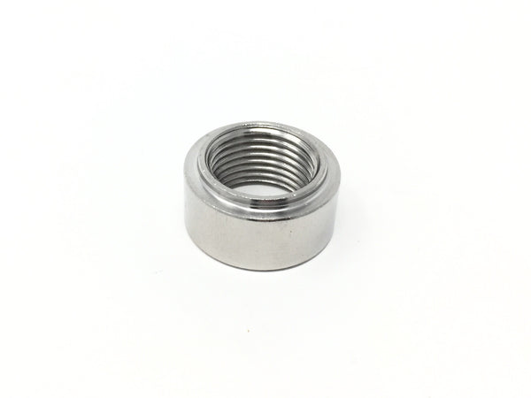 Diftech O2 Sensor Bung M18 x 1.5 - Beaded Weldable Stainless Steel -Straight - 10709 - Diftech