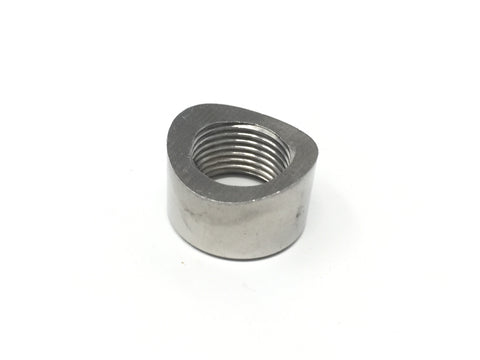 DIFtech Weldable O2 Sensor Bung M18 x 1.5 Notched Stainless Steel Straight 10707 - Diftech