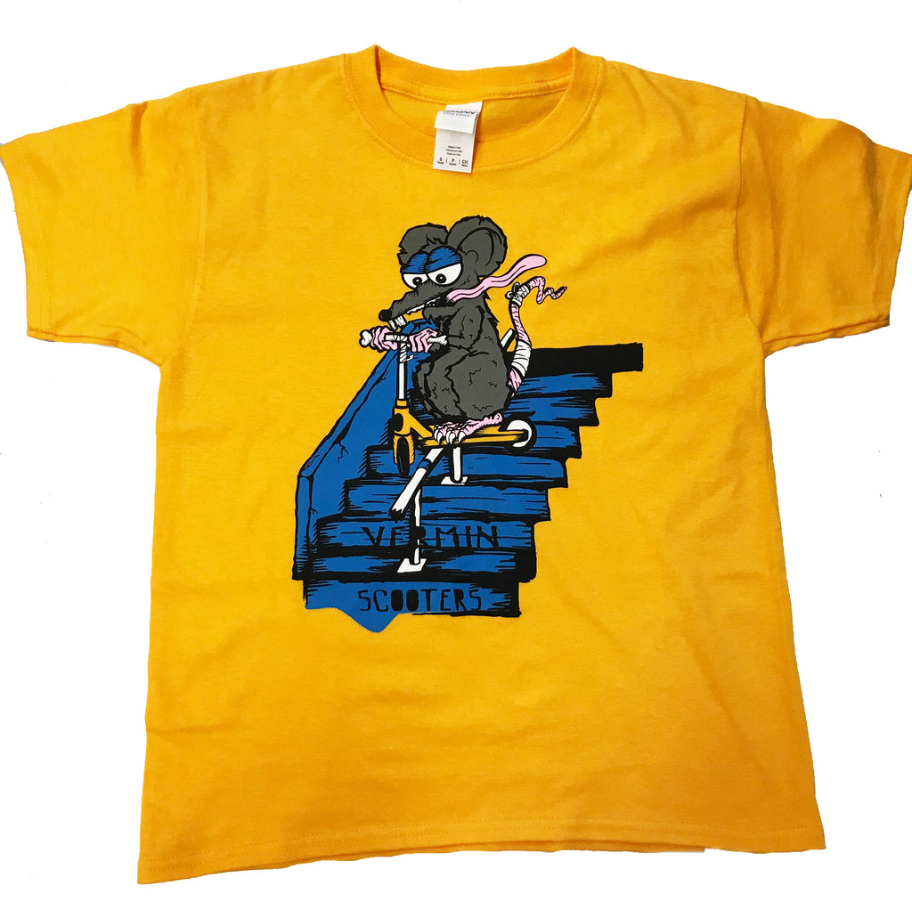 VERMIN SCOOTER T-SHIRTS - STAIRZ YELLOW