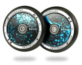 ROOT INDUSTRIES AIR WHEELS 110mm - BLACK/BLUE SPATTER