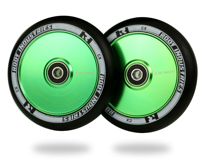 ROOT INDUSTRIES AIR WHEELS 110mm - BLACK/GREEN