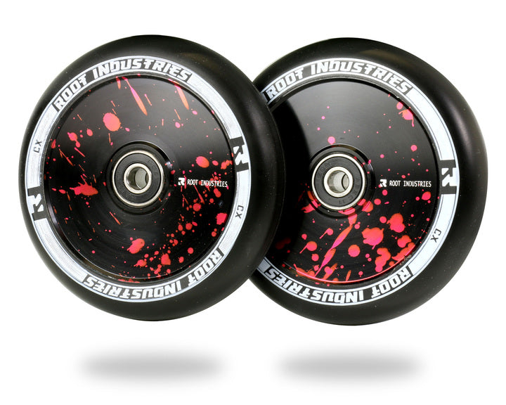 ROOT INDUSTRIES AIR WHEELS 110mm - BLACK/RED SPATTER