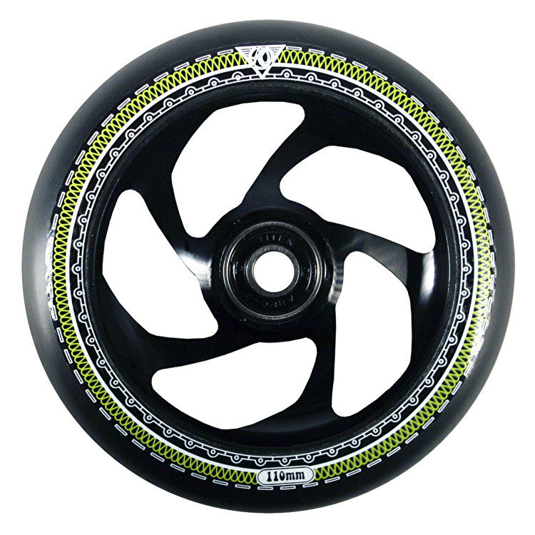 AO MANDALA 5 STAR SCOOTER WHEEL - BLACK