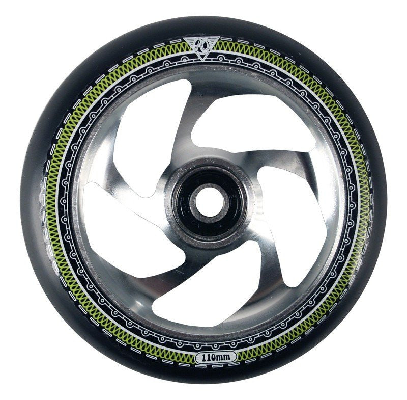 AO MANDALA 5 STAR SCOOTER WHEEL - SILVER