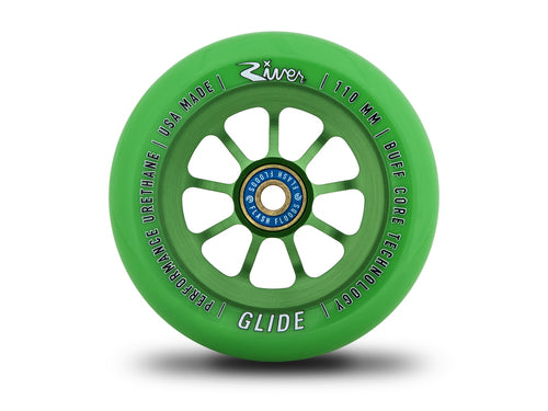 RIVER SCOOTER WHEELS - GLIDES GREEN