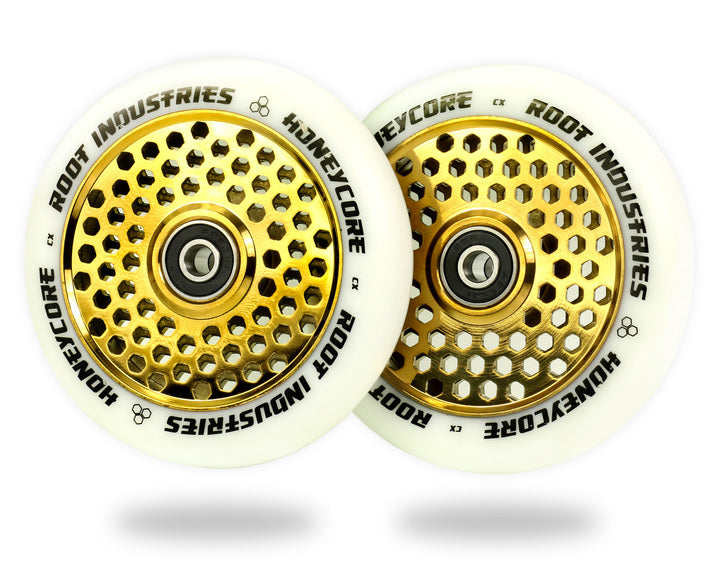 ROOT INDUSTRIES HONEY CORE WHEELS 110mm - WHITE/GOLD