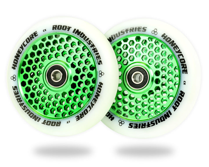ROOT INDUSTRIES HONEY CORE WHEELS 110mm - WHITE/GREEN