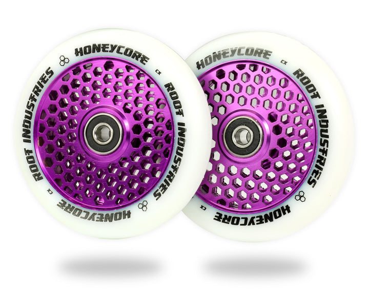 ROOT INDUSTRIES HONEY CORE WHEELS 110mm - WHITE/PURPLE