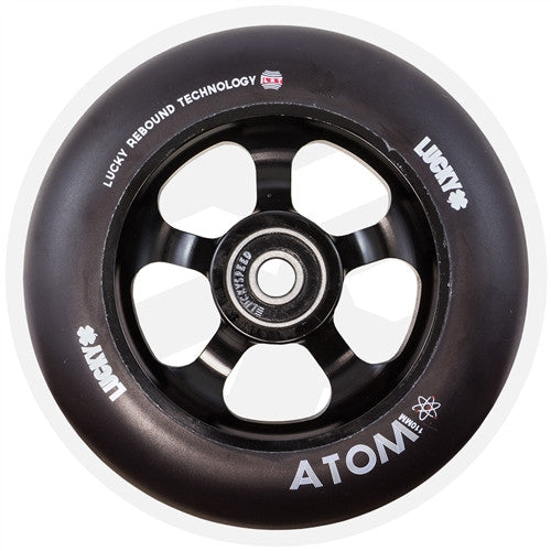 LUCKY ATOM 110mm WHEEL - BLACK