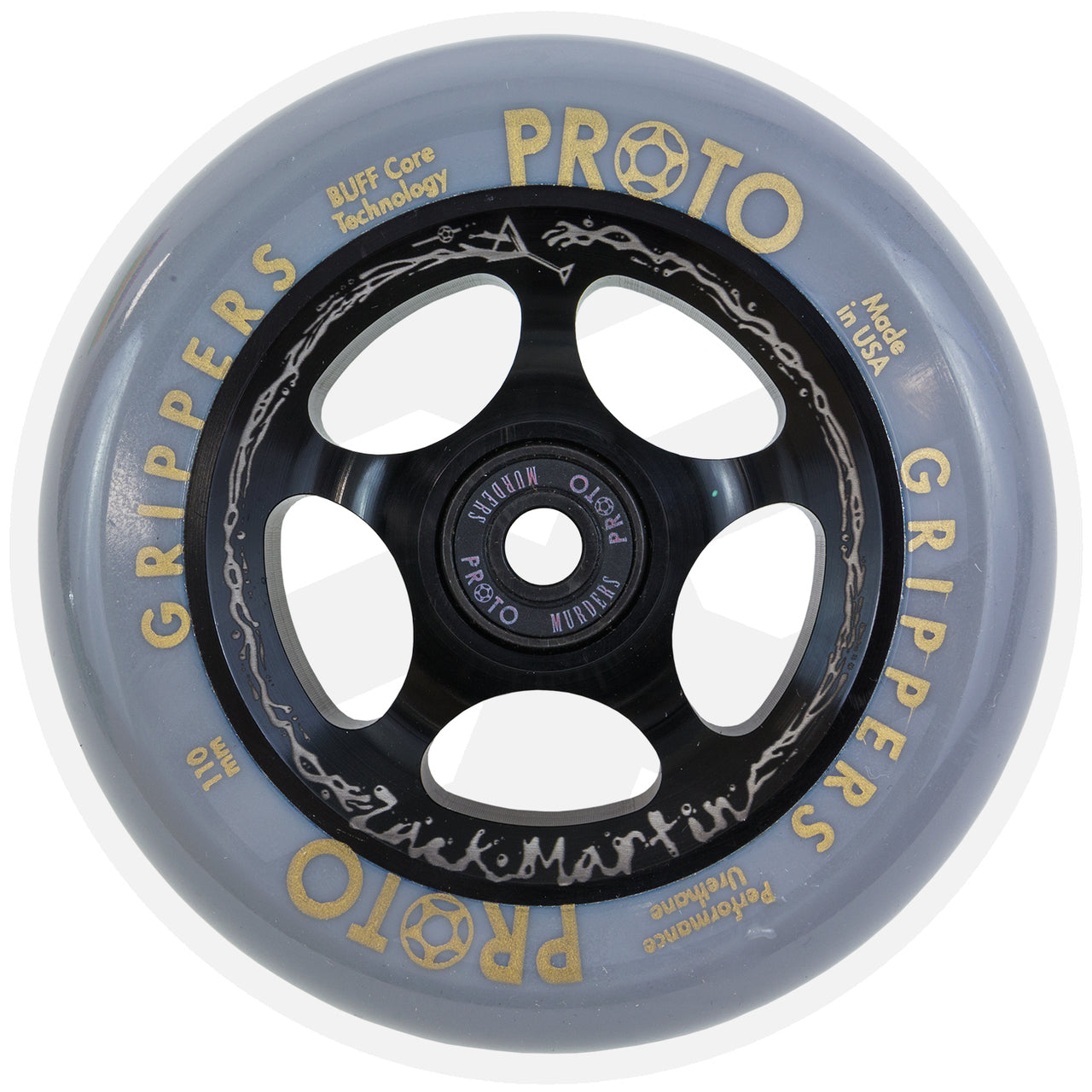 "PROTO SCOOTERS WHEELS - GRIPPERS ""WASTED"" ZACK MARTIN SIG"