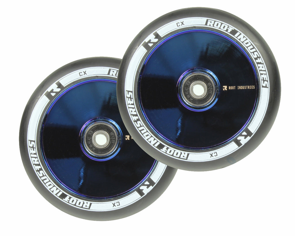 ROOT INDUSTRIES AIR WHEELS 120mm - BLUE CHROME/BLACK