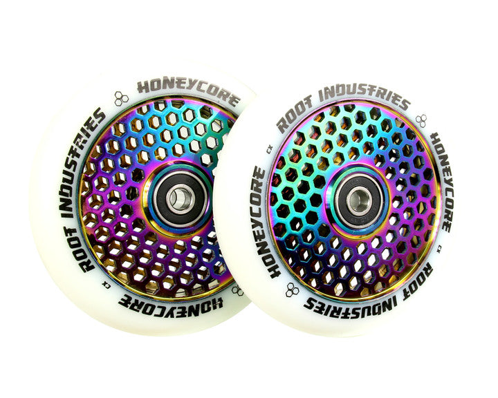 ROOT INDUSTRIES HONEY CORE WHEELS 110mm - WHITE/NEOCHROME