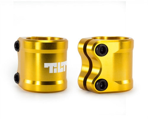 TILT ARC DOUBLE CLAMP - GOLD