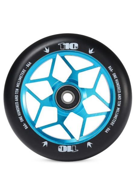 110mm DIAMOND BLACK/TEAL WHEEL