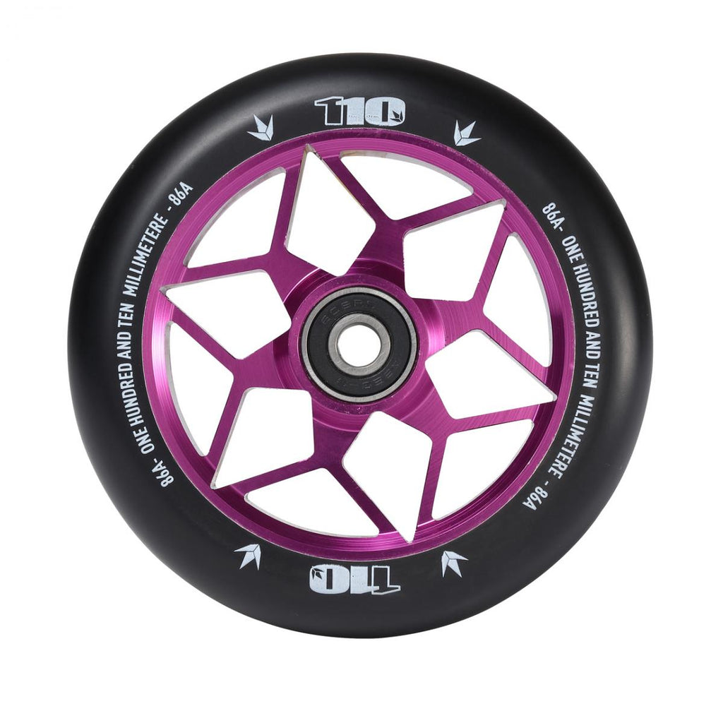 ENVY 110mm DIAMOND BLACK/PURPLE WHEEL