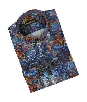 Men's Multicolor Long Sleeve Dress Shirt