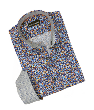 Men's Frammenti Long Sleeve Dress Shirt