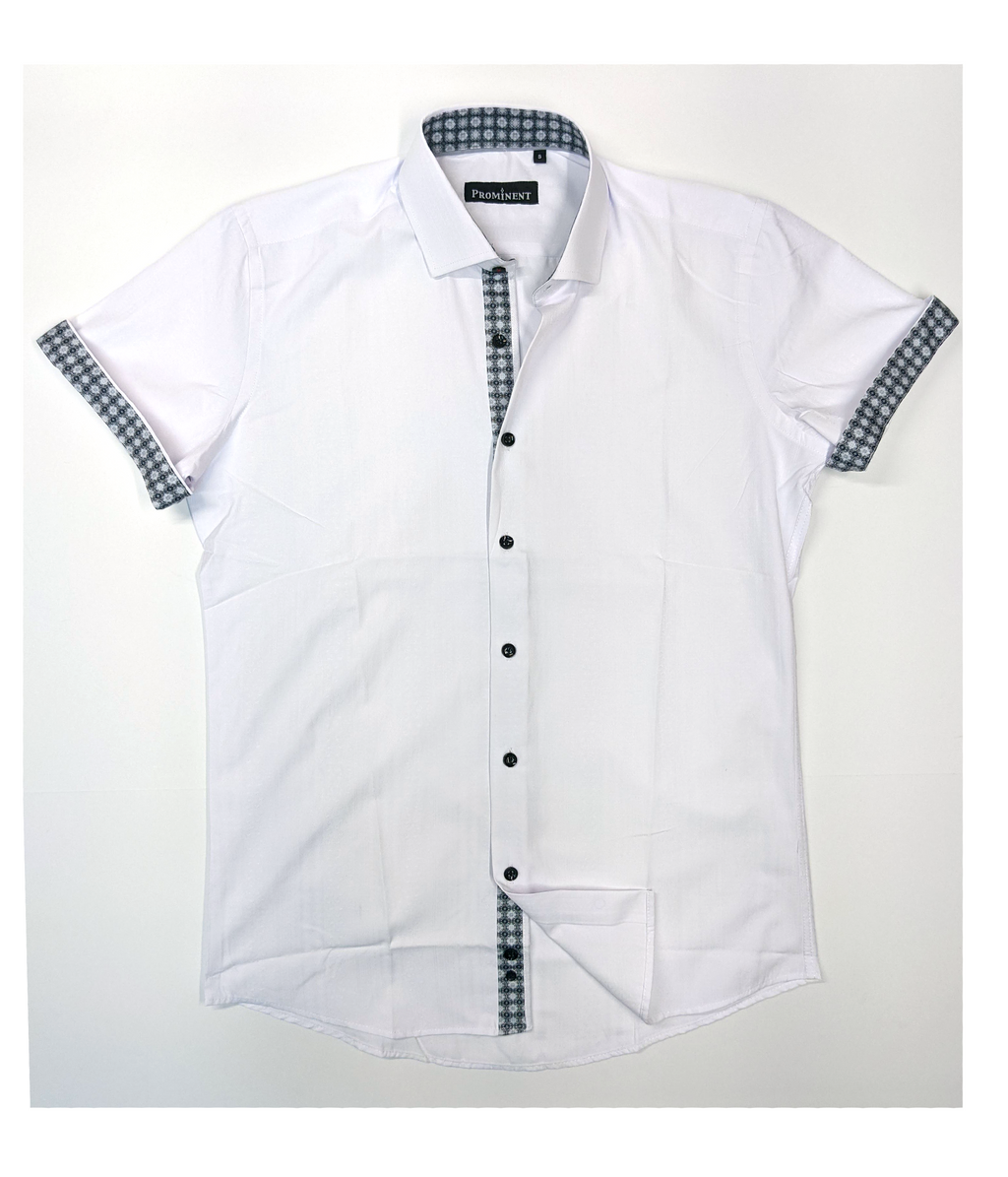 Men's Woven Short Sleeve Dress Shirt