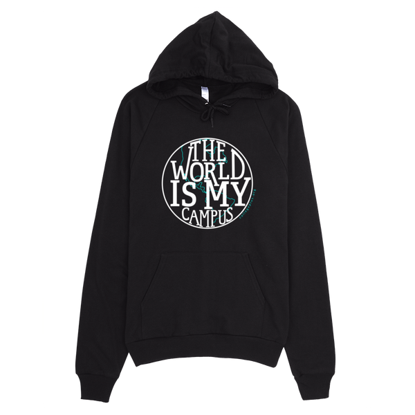 The World is My Campus Hoodie - Black