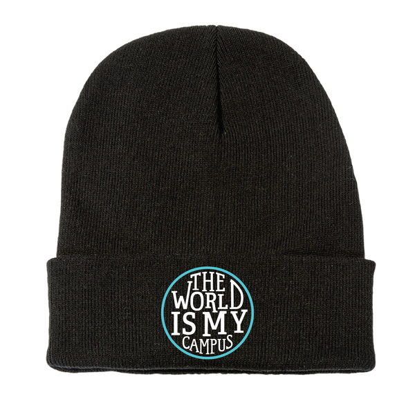 The World is My Campus Beanie - Black