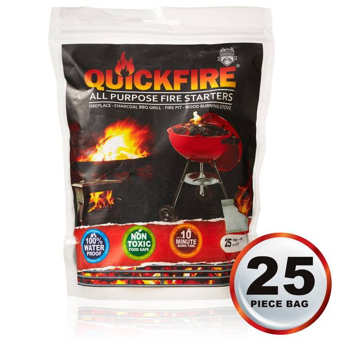 25 PC Bag QUICKFIRE Starter Pouches