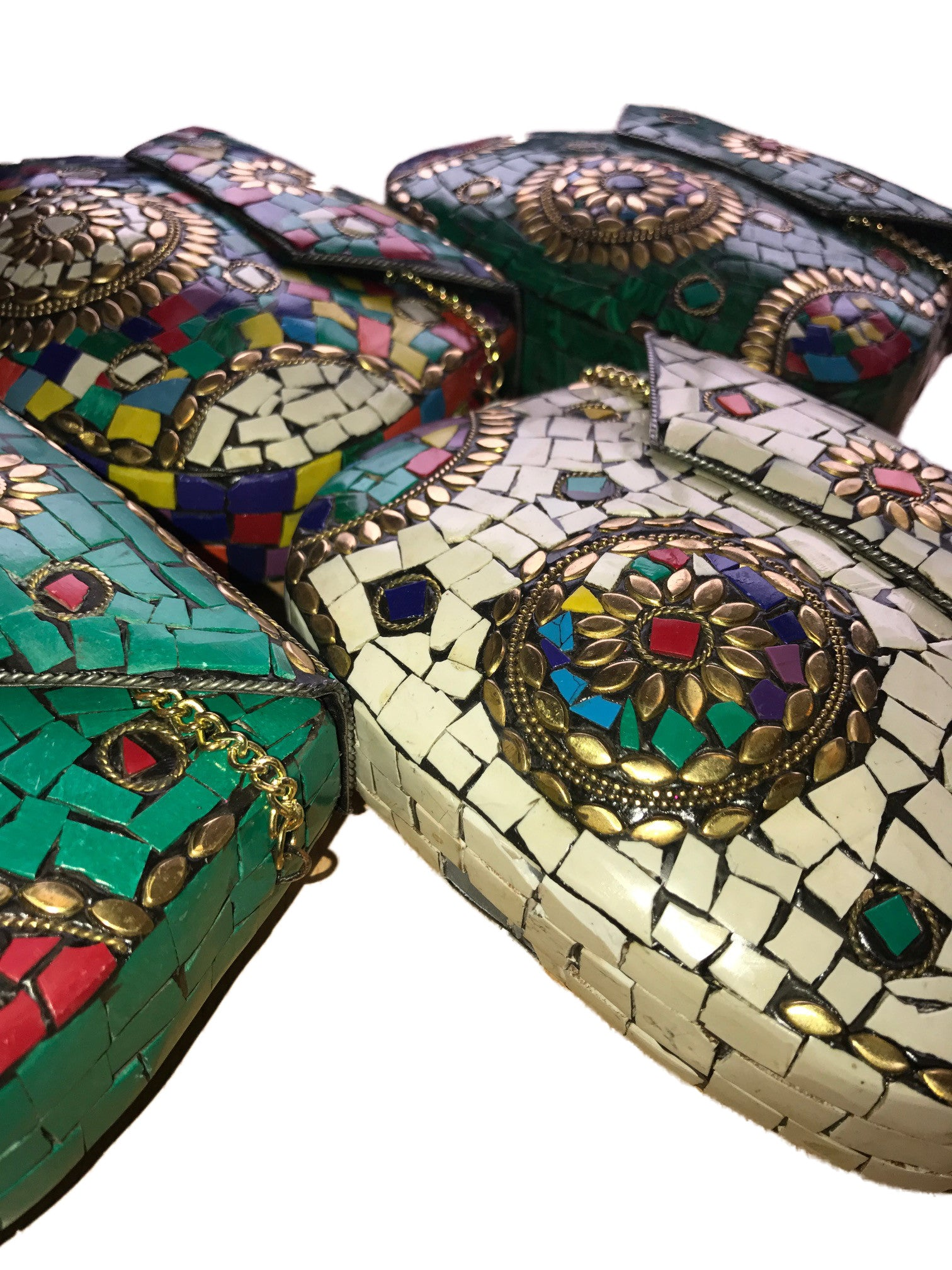 Mosaic Metal Clutch