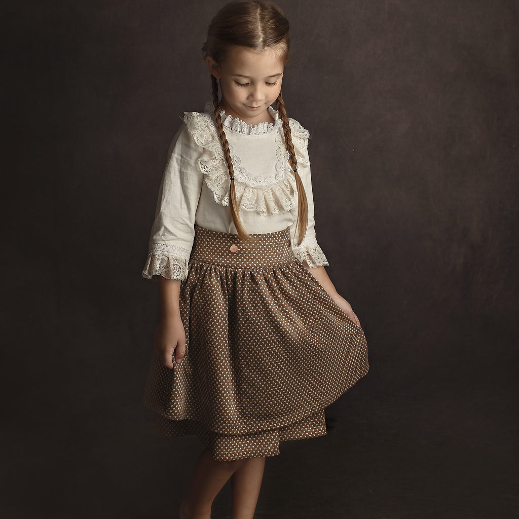 Madeleine Skirt - Natural Hearts