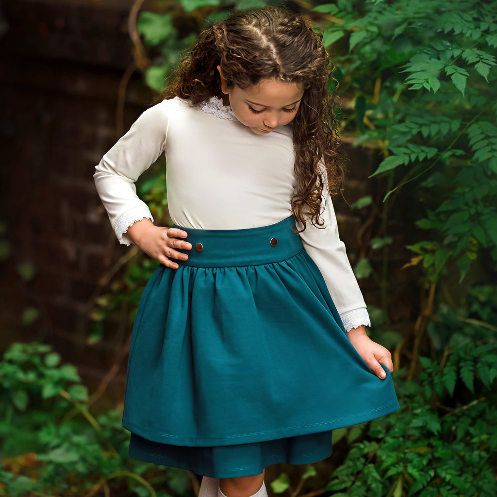 Madeleine Skirt - Teal  As seen on the TODAY Show!