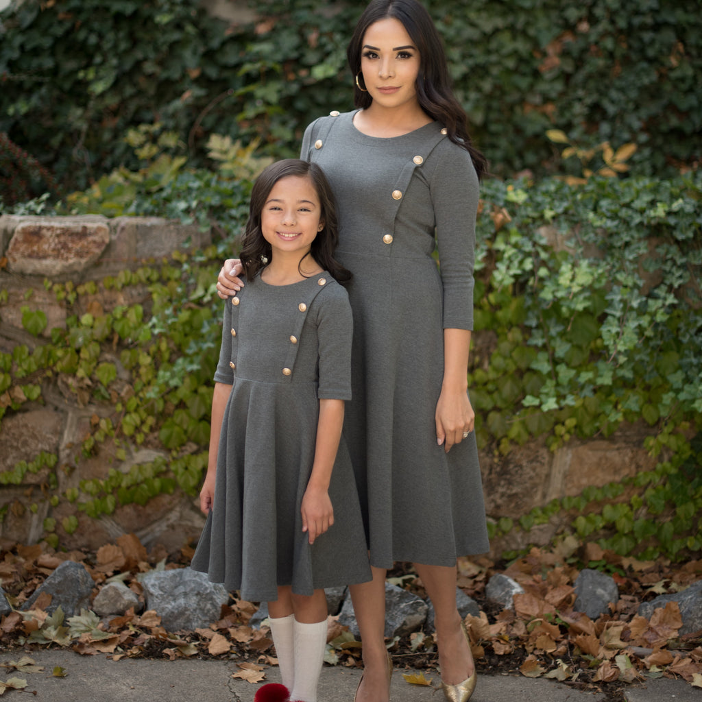 Ladies' Regalia Dress -  Grey
