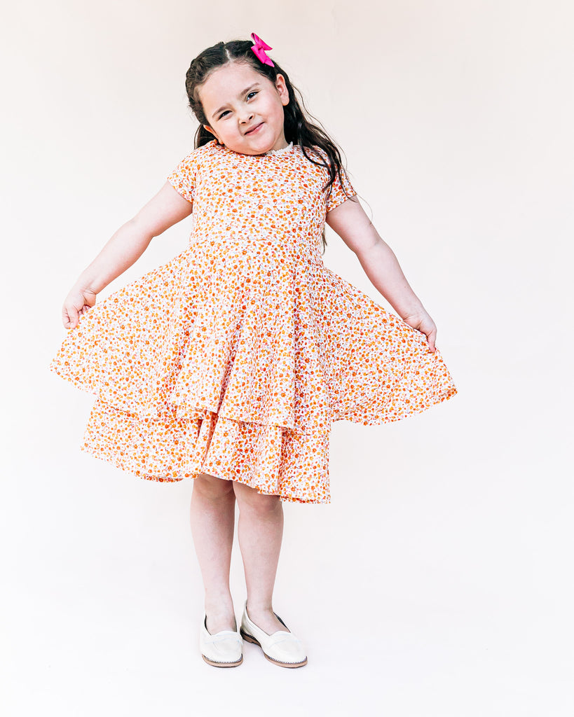 The Sophia Dress - Pointelle Gold