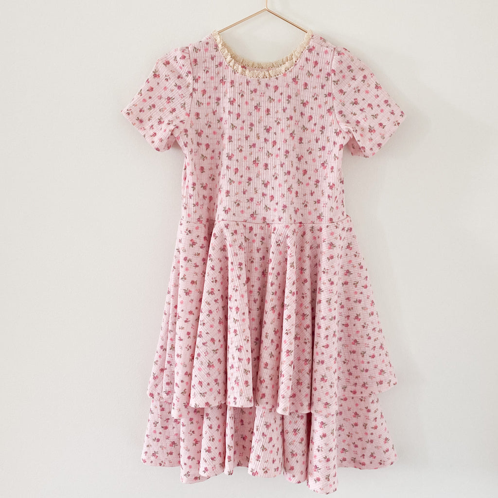 The Sophia Dress - Pointelle Pink