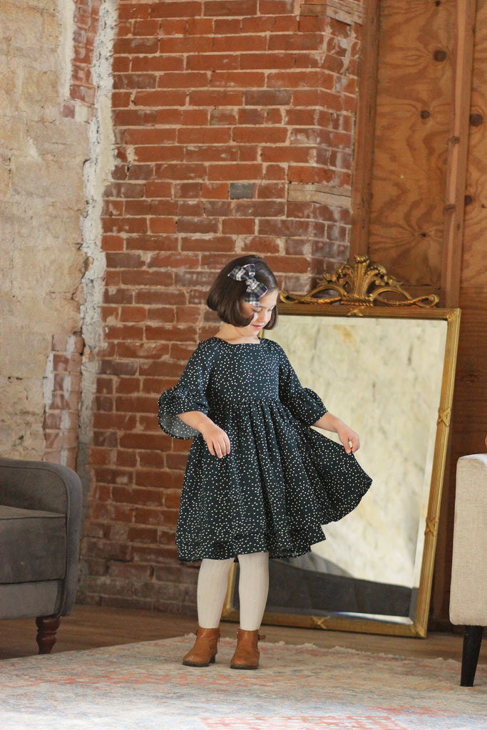 Heidi Dress -  Girl's Forest Dot