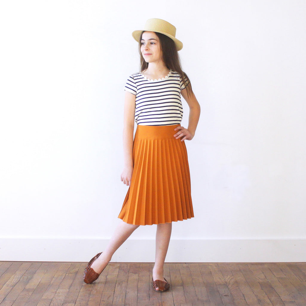 Olivia Skirt - Girls Ochre