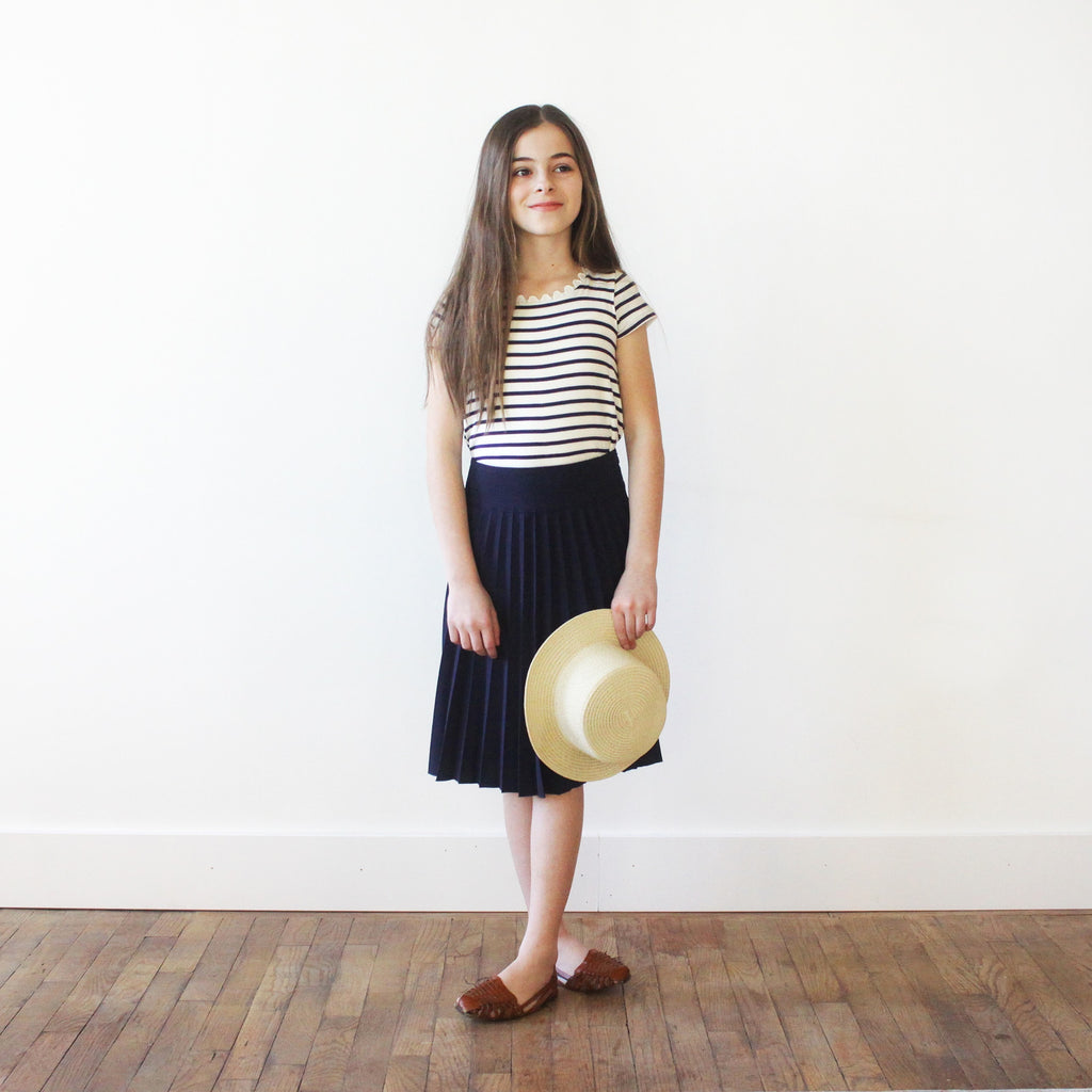 Olivia Skirt - Girls Navy