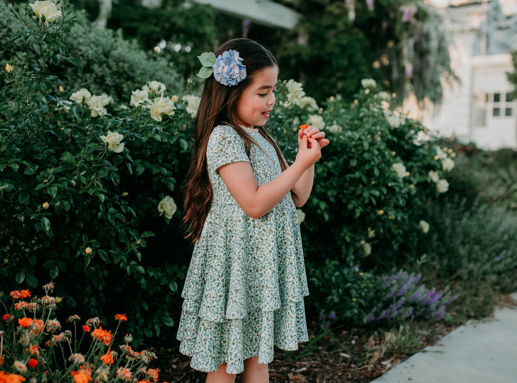 The Sophia Dress - Pointelle Botanical
