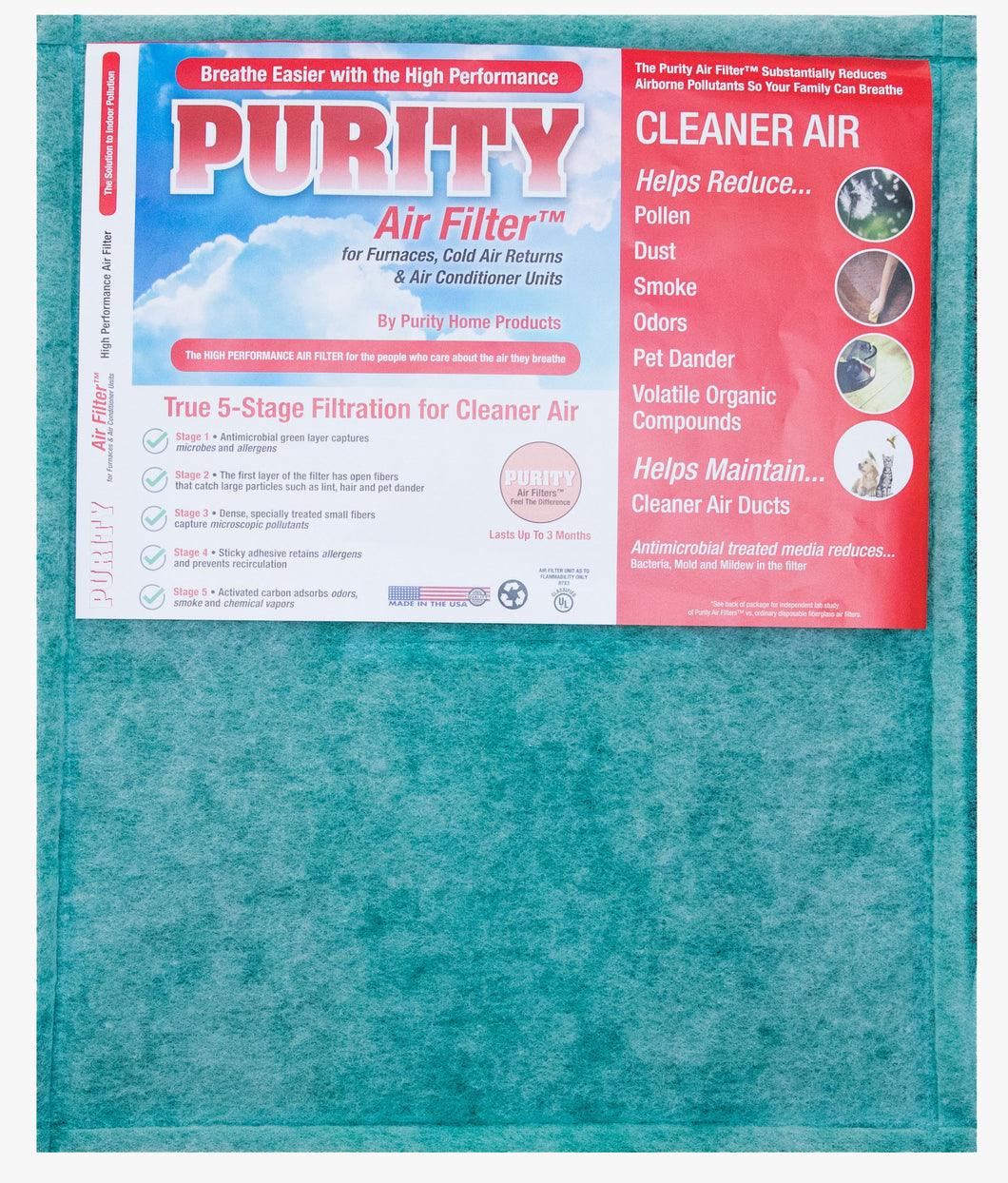 Custom High Performance Purity Air Filter Sizes (Up To 25