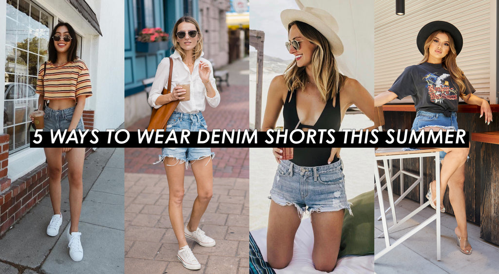 4 Ways To Wear Denim Shorts This Summer | Shop BBJ Denim Shorts