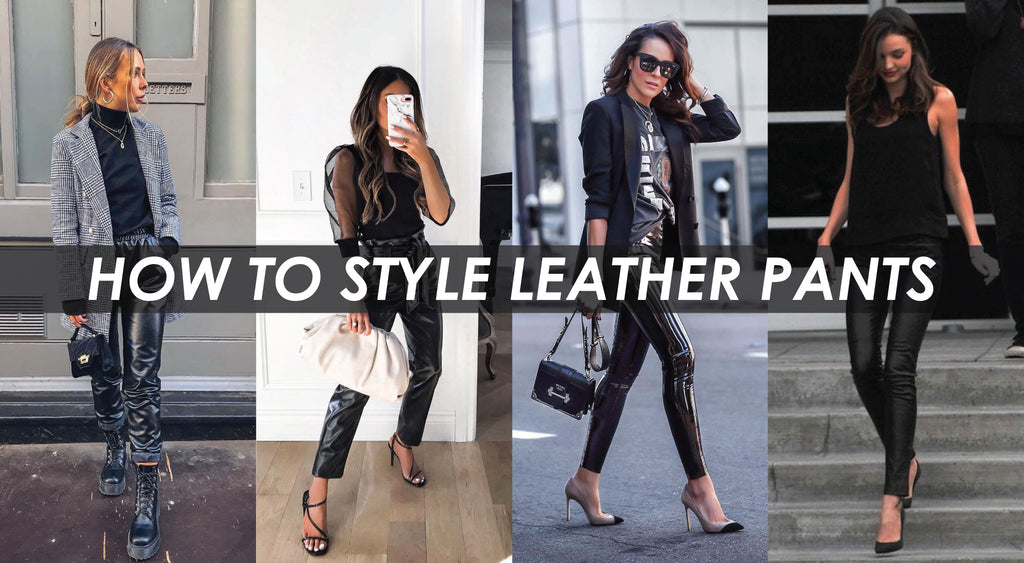 How To Style Leather Pants | Shop BBJ Leather Trousers