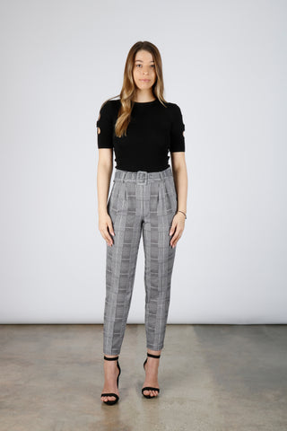Glen Plaid Trousers | Boom Boom Jeans