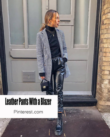 how to style leather trousers