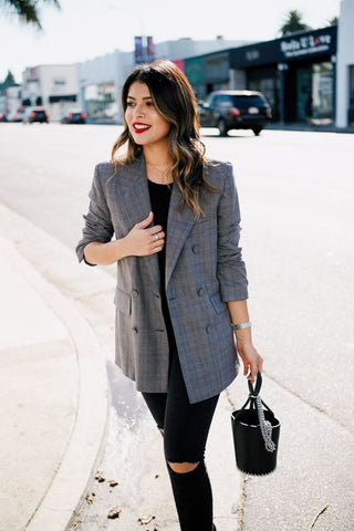 How To Style Your Plaid Blazer | Boom Boom Jeans
