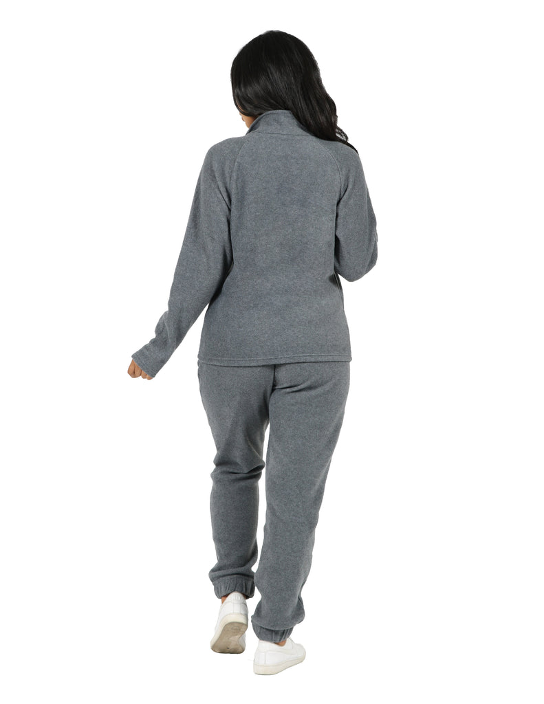 Active Fleece Mock Neck Raglan Jacket and Jogger Set