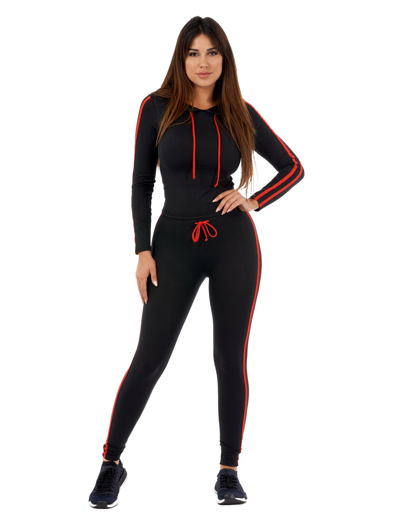 Let's Get Physical Two Piece Hoodie And Pants Set