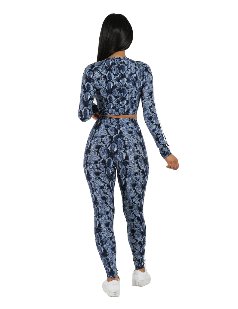 Slayer Two Piece Snake Print Leggings Set