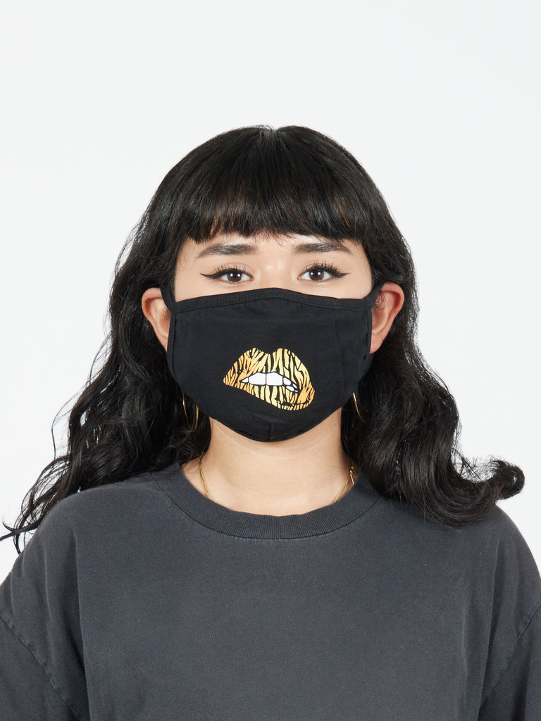 Tiger Lips Printed Fabric Face Mask