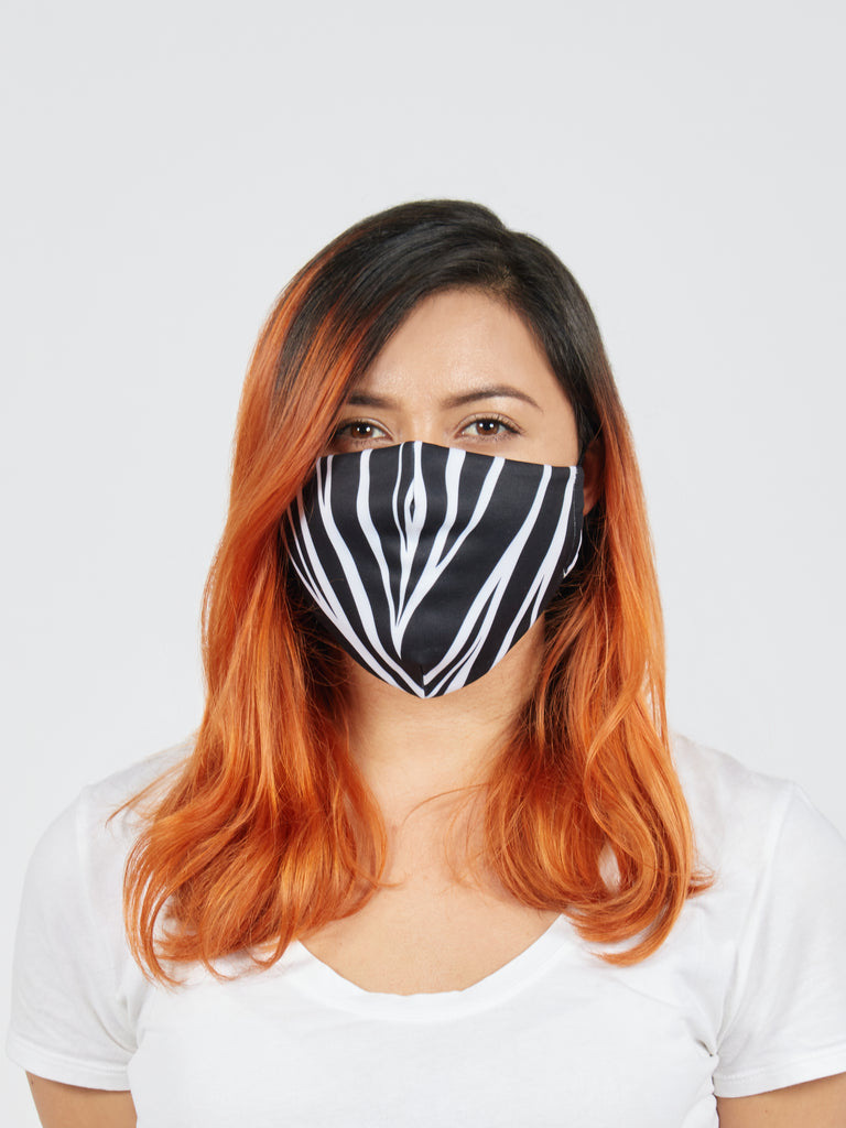 Zebra Face Mask