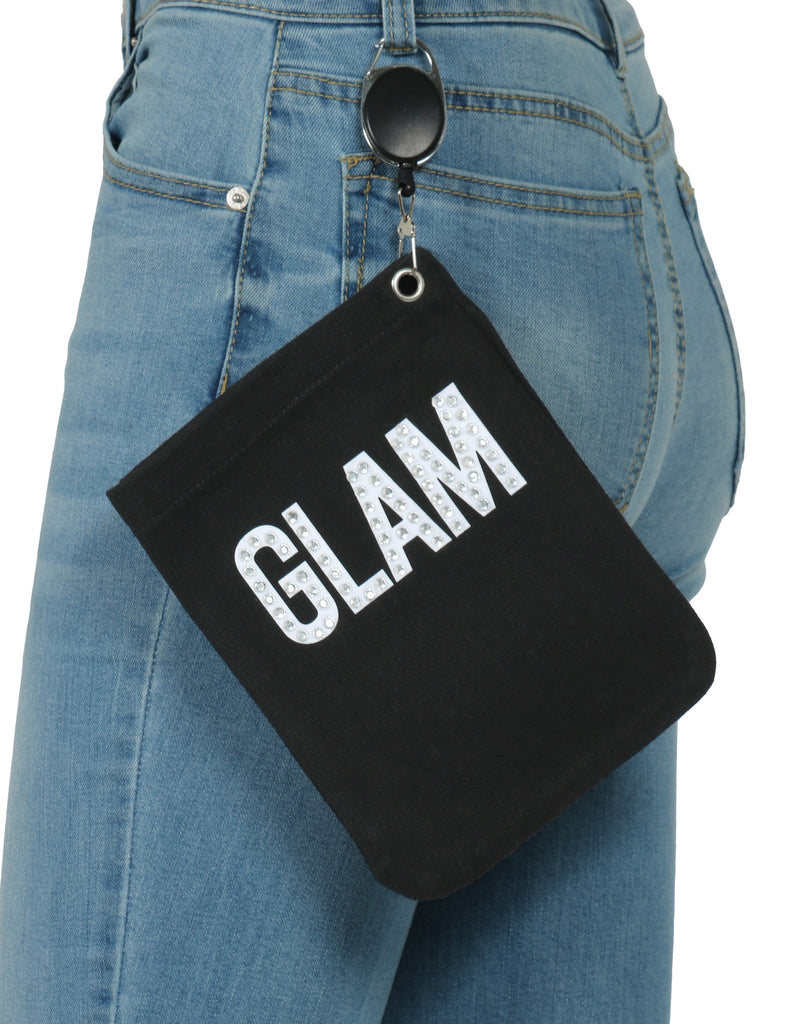 Bling Wording Glam Safety Mitt Bag