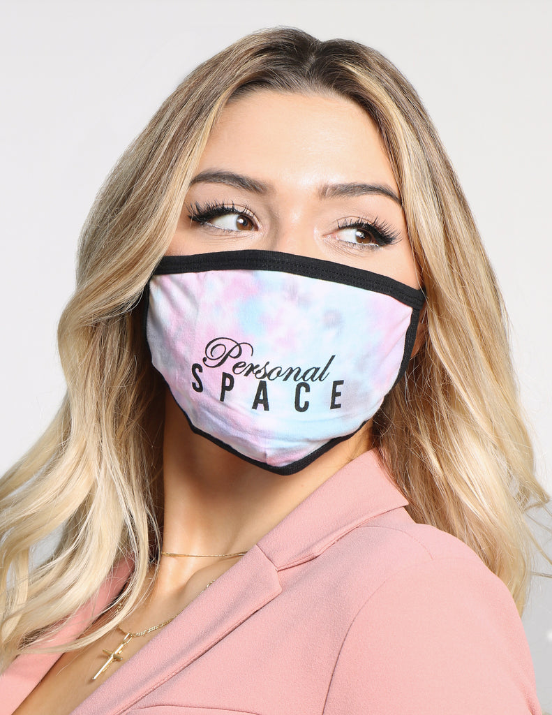 Personal Space Tie Dye Face Mask