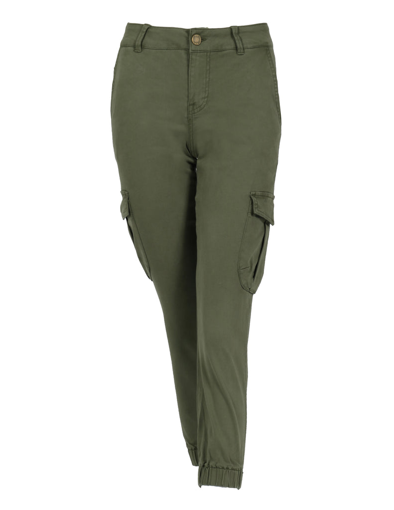 Mid Rise Crop Cargo Army Jogger